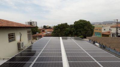 Telhado energia solar fabrica de sorvete